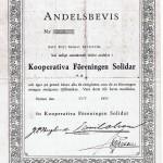 Andelsbevis i Kooperativa föreningen Solidar